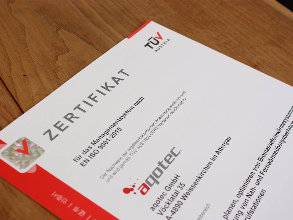 ISO Certificate aqotec